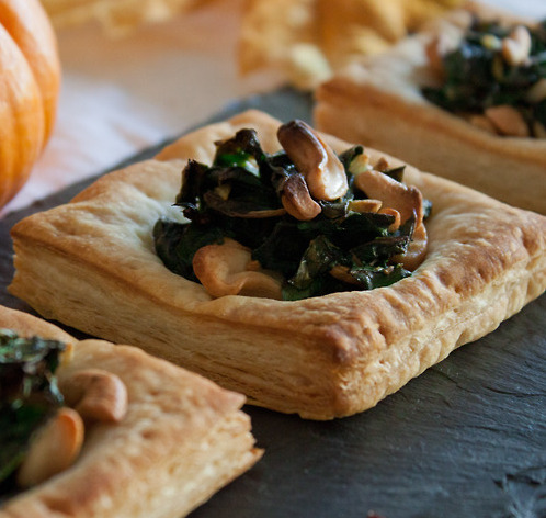 findvegan:  Swiss Chard & Cashew Puffs