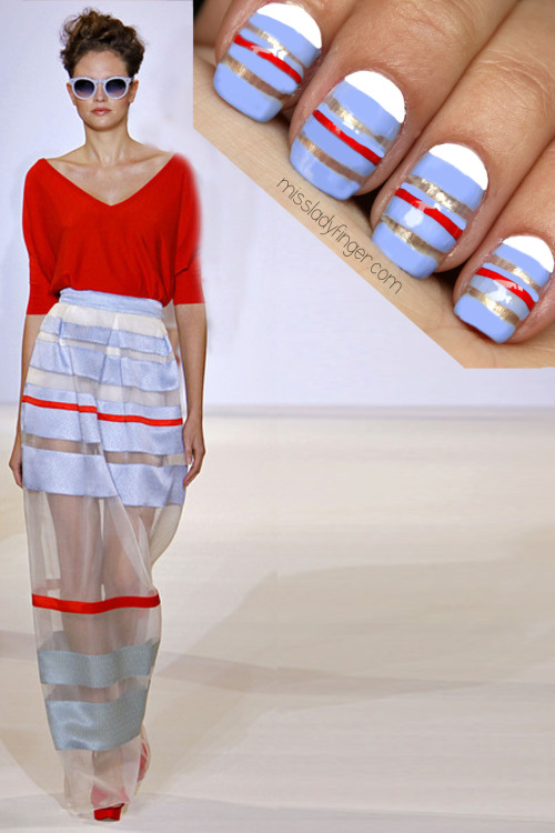 MANICURE MUSE: Temperley London Spring '13 Stripe-play… the right way.