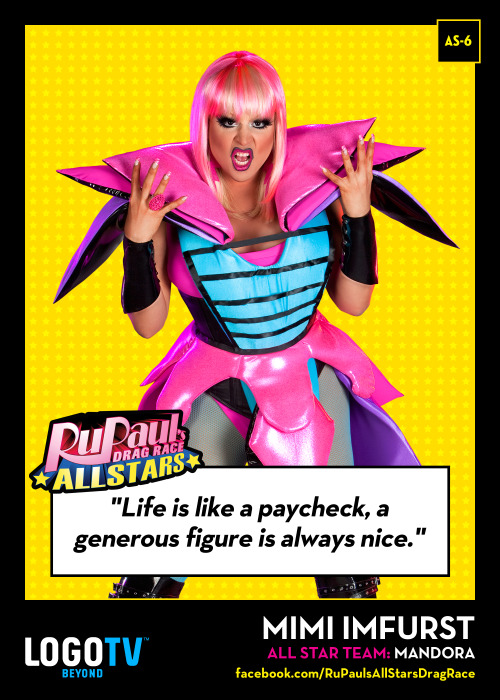 It's RuPaul's Drag Race TRADING CARD THURSDAY #AS-6: Mimi Imfurst!