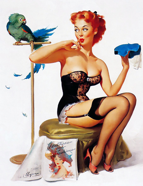 "vintagegal:  ""No You Don't!"" by Gil Elvgren, 1956"