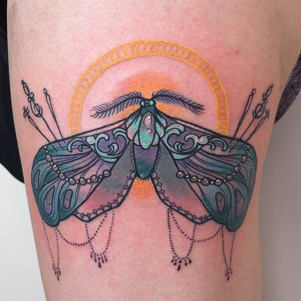 epicterror:  What can i say? I just love moths #tattoo #tattoos #apprentice #apprenticesig #apprenticetattoos #tattooapprentice #moth #mothtattoo #neotraditional #neotraditionaltattoo