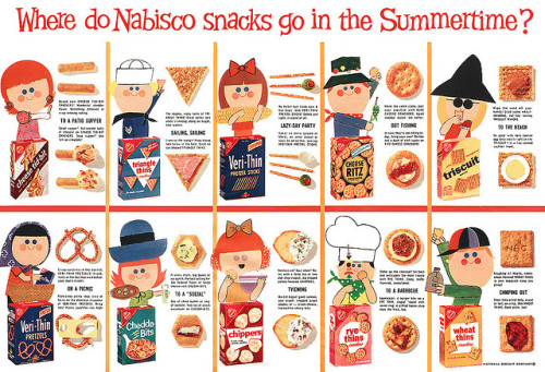 Nabisco magazine ad (1960s) I used to love Cheese Ritz…