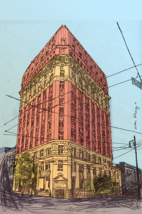 urbansketcher:  Dominon Building Vancouver