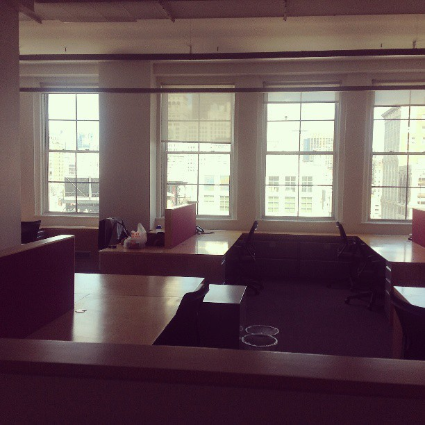 New office project space in Union Sq. #interiordesign @designerfluff1