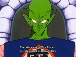 Piccolo's day.