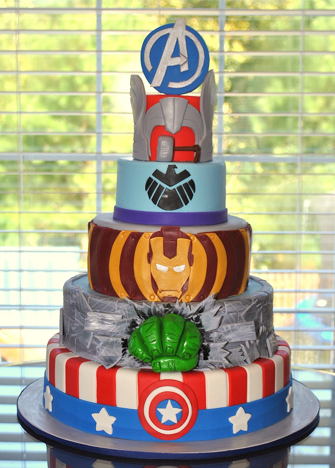 Avengers cake by hope s sweet cakes