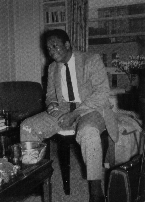 A happy John Coltrane at the Cathouse circa late 1950s (photo by Pannonica de Koenigswarter)