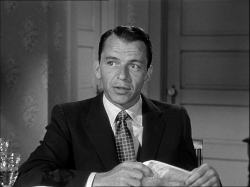 wherearewedamfino:  Frank Sinatra in Not As A Stranger  c 1955