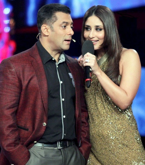 Salman Khan and Kareena Kapoor on the Bigg Boss 6