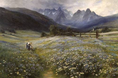 fleurdulys:  June in the Austrian Tyrol - John MacWhirter, 1892