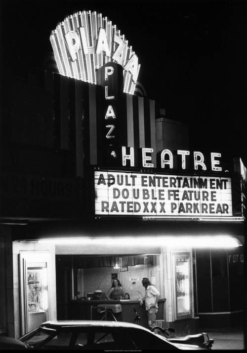 Plaza Theatre during its run as a porno palace - 1979