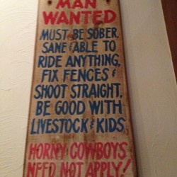 Every time I see this, it reminds me of my sister #cowboy #manwanted