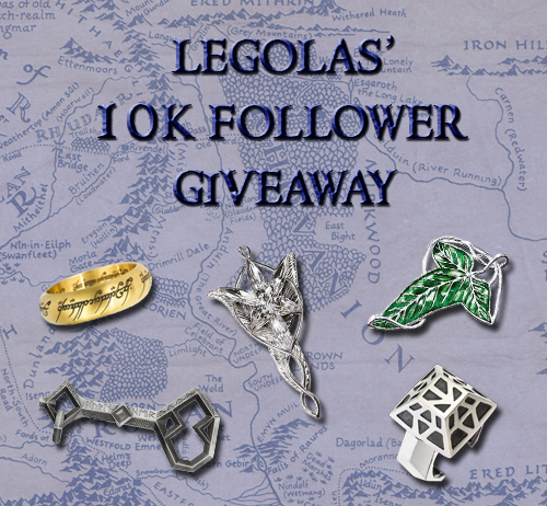 leeeeeeeeeegooooooooolaaaaaaaaas:  My last two giveaways have been overwhelming successes, and because I'm near my milestone of 10,000 followers, I figured I'd do it all again! The prizes this time are as follows:  The One Ring Replica of Thorin's Key & Map The Evenstar Pendant Sterling Silver Elven Brooch Thorin's Dwarven Silver Ring All are officially licensed products and will be bought from The Noble Collection. Bonus item:   So here's how it's gonna be (AKA The Rules!): This is a follower appreciation giveaway, so you must be following me!  No giveaway blogs! (I will check!) Reblog to your heart's content! (Just be polite and try not to spam.) Likes count! Keep your ask box open so I can contact you with the good news! The giveaway ends March 1st, 2014! I will select the winner via random number generator. My last two giveaway winners were located in the UK and the US. I am willing to ship anywhere in the world! Thanks for following, and good luck!
