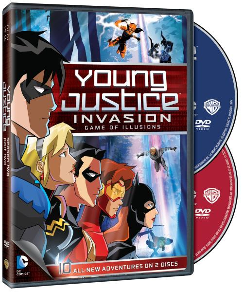 "New ""Young Justice: Invasion – Game of Illusions: Season Two, Part Two"" Two-Disc DVD Set Announcedhttp://www.worldsfinestonline.com/2013/05/new-young-justice-game-of-illusions-season-two-part-two-two-disc-dvd-set-announced/"