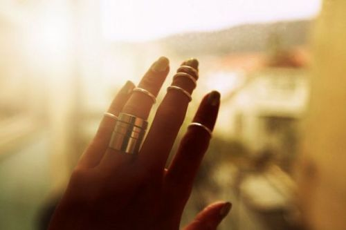 mirnah:  Set against the setting sun, these Asos Multi-rings are perfect for adding a little stackable drama to your summer style.