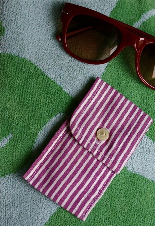 DIY Pouch from an Upcycled Men's Shirt! (via Family Chic)