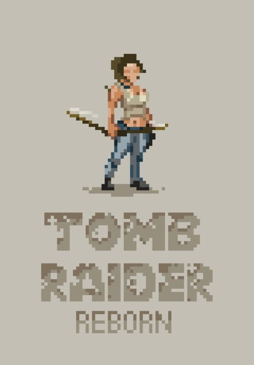 Tomb Raider Lara Created by Black Moon Design || Facebook || Vimeo (Via: it8bit)