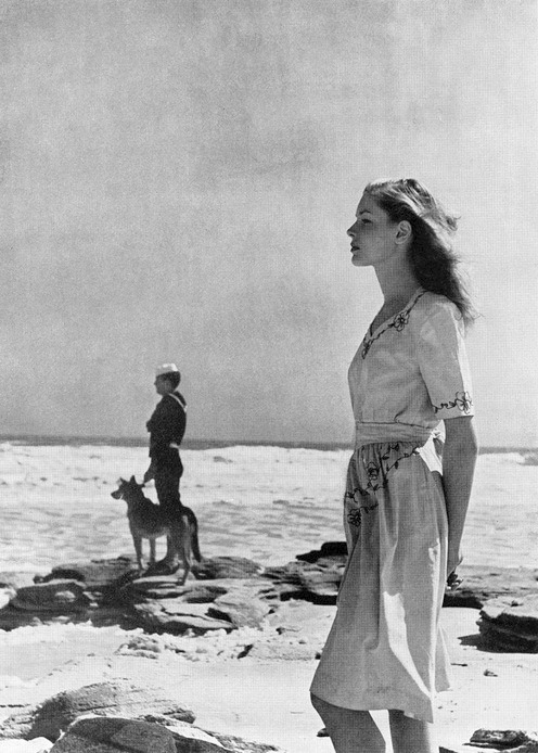 [Lauren Bacall by Louise Dahl-Wolfe for Harper's Bazaar May 1943]