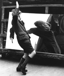 poboh:  The boy and the distorting mirror, Rotherham, 1960, John Chillingworth.