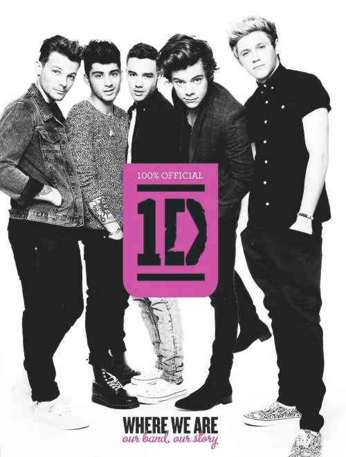 "The official cover of the new book ""Where We Are: Our Band, Our Story"""