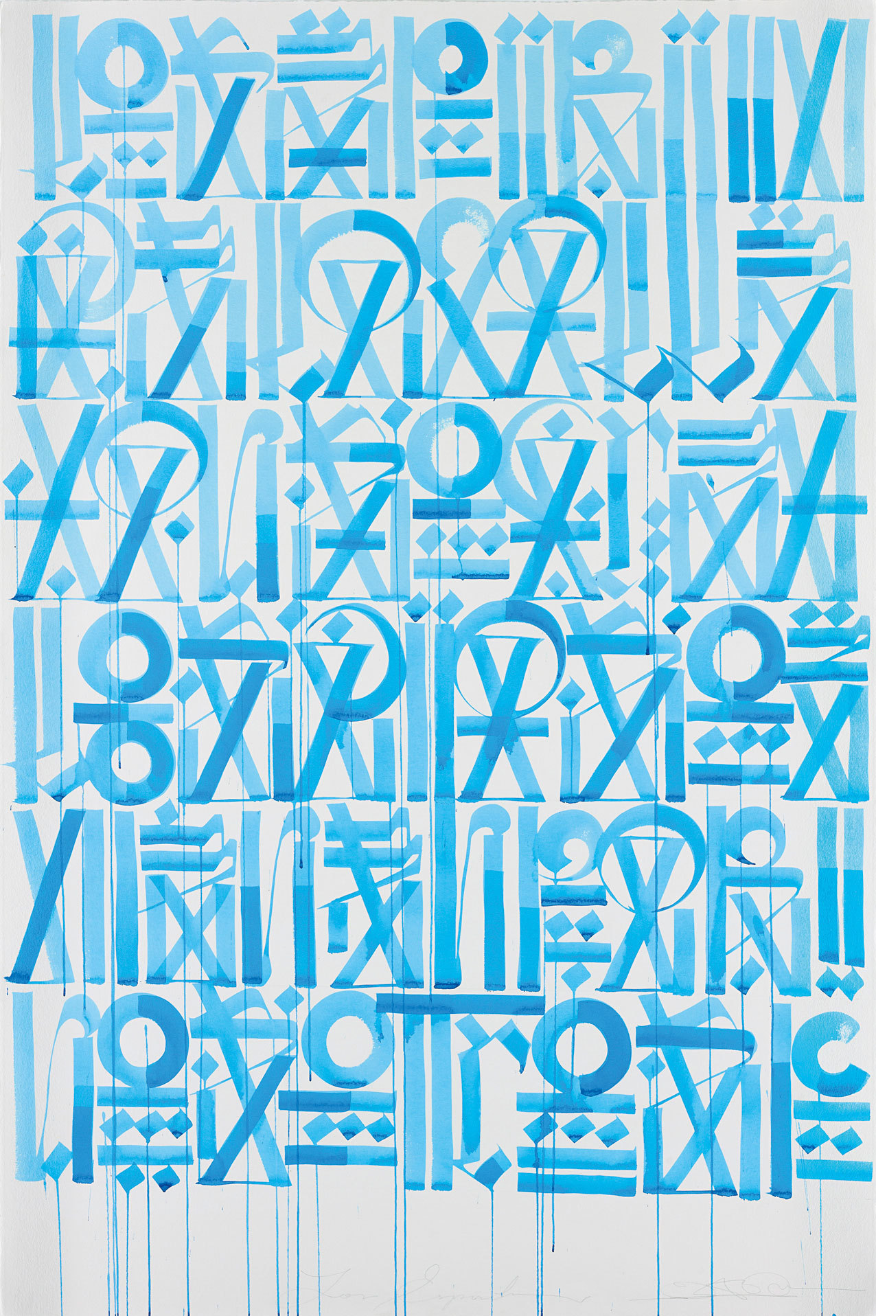 RETNA (MARQUIS LEWIS) | Los Espiritus, 2011 | watercolour on Somerset paper  Sold for £10,625 at the Under the Influence sale, 13 December 2012, London.
