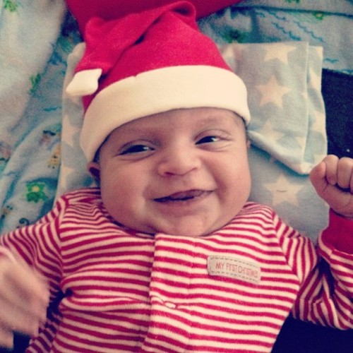Merry Christmas Eve from the second best Christmas gift, Brayden! Baby Jesus is first of course. 🎁❤🎄