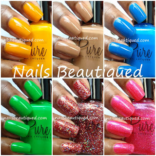 Pure Nail Lacquer Swatches and Review