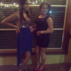 Janeth & I :) stupid light reflection -.- #lateUpload #Drillteam #banquet #dress