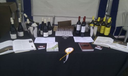 Our stall at the food festival market on Victoria Gardens - come and enjoy a glass of wine in the snow!!!