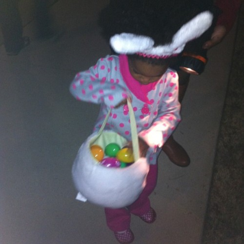 The best late night Easter egg hunt. The flashlights came in handy!