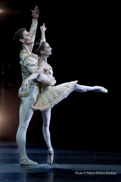 Sergei Polunin and Maria Kochetkova in The Sleeping Beauty pas de deux. Photo © Maria-Helena Buckley.