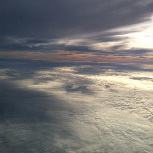 Todays flight was absolutely beautiful #clouds