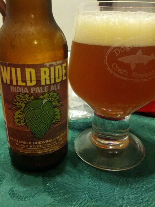 Wild Ride IPA from Sand Creek Brewing Co has a malty bitter up front with a lingering piney finish. The smell is definitely American IPA-esque.