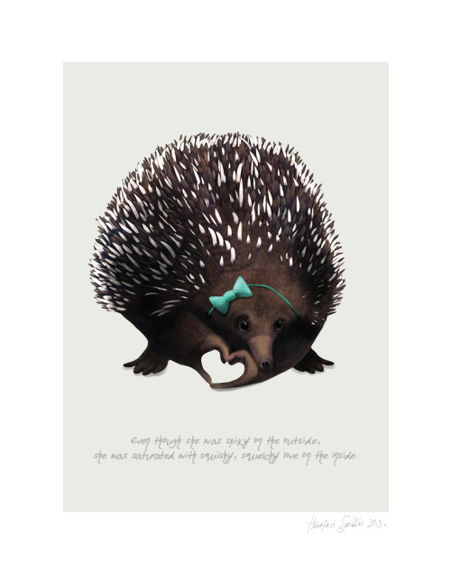 headfirst-scribbles:  Elly Echidna  THIS IS SO FUCKING CUTE