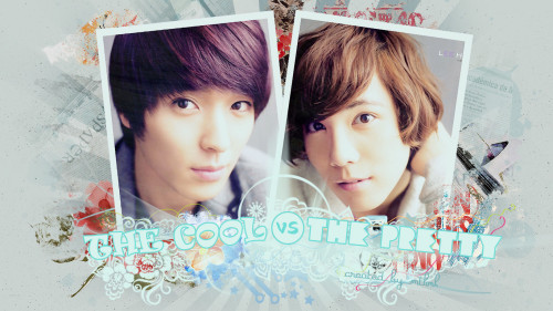The Cool vs The Pretty (─‿‿─) (Click on the pic to enlagre ^^)