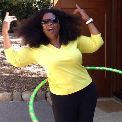 Oprah living her best life.