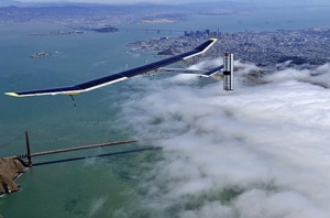 "Are you following this remarkable project?  http://www.solarimpulse.com/  ""Solar Impulse has demonstrated that a solar-powered airplane can fly day and night using no fuel. The next challenge is to fly around the world. Our aim is to prove that progress is possible using clean forms of energy. Becoming a pioneer is all in the mind. Would you too like to break free of certainties and confront the unknown?"""