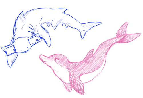sochzee:  aquariumstuck shark!john and dolphin!rose uvu~ Dave and JadeDirk and JaneJake and Roxy