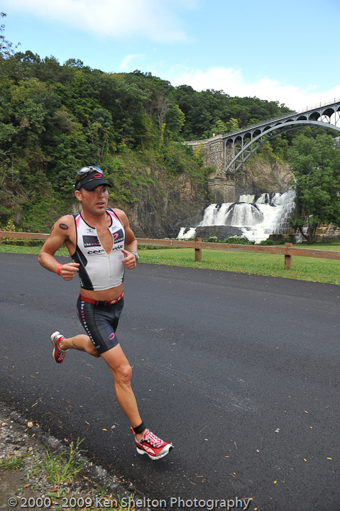 Running under the Croton on Hudson Dam TOUGHMAN Half Iron 2012