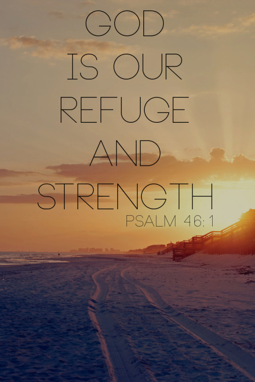 "spiritualinspiration:  "" God is our refuge and strength, an ever-present help in trouble"" (Psalm 46:1, NIV).  God is always present with you. That means at all times, continually, perpetually, throughout all time, God is with you. In your day of trouble, He is a help to you. How is He your help? By providing whatever you need; by opening doors for you; by orchestrating things in your favor. That's because ""help"" is specific to your need. We serve a God who is very specific, and because He is always with you, He always knows exactly what you need!  Today, are you facing trouble or adversity? Know that God is with you. Look to Him for help. Trust that He has the answer, and that He is working things out in your favor. As you continue to believe Him and follow His direction, He will lead you in the way that you should go. He will comfort you, revive you, restore you and bless you! He will be your ever-present help because He is forever faithful to His Word!"
