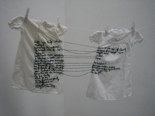 phoebebishopwright:  'The Stitch is Lost Unless the Thread is Knotted', 2008 by Aya Haidar
