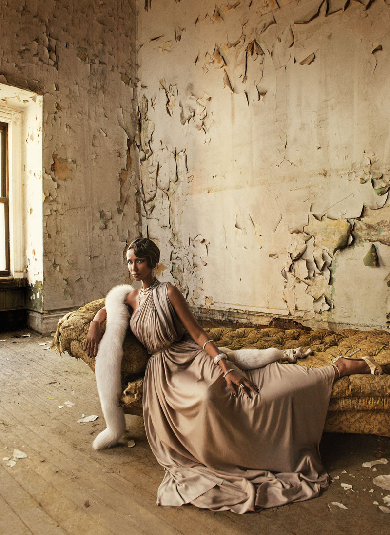 In Bed With: Iman - Mark Seliger, May 2013