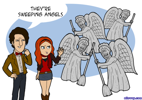 Doctor Who y los Sweeping Angels. LA idea fue enviada por laredesbastaeinfinita