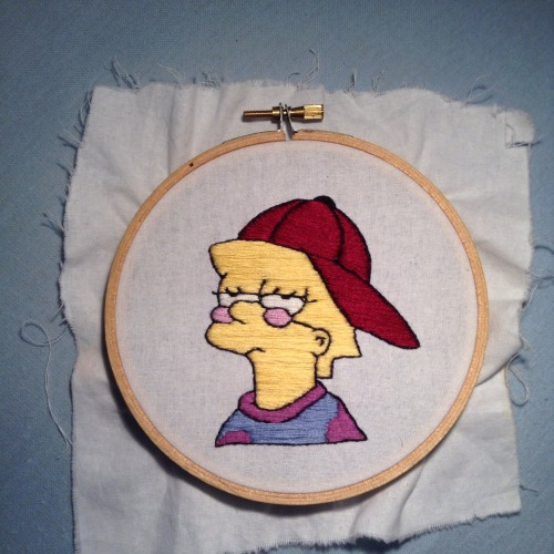 cool lisa the simpsons lisa simpson hand embroidery embroidery needlework hoop art sewing crafts i tried embroidered mine stitchin