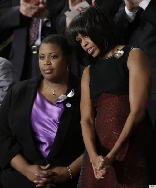 FLOTUS wore #oxblood to the State of the Union. Photo: Getty