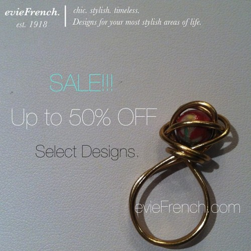 Enjoy up to 50% OFF select designs at evieFrench.com!!! @eviefrench #eviefrench #rings #jewelry #sale #save #shop #luxury #boutique #cute #love #losangeles #la #accessories #discount #beautiful #pretty #style #stylish #fashion #fashionable #stones #buy #earrings #french #summer #doublering #grandopening #handmade