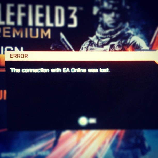 God daymn it EA sort out your severs!! #EA #suck #evil #error #attack #awesome #lol #bored #sad #stuff #sever #battlefield3 #xbox #gaming #fun #fear #kill