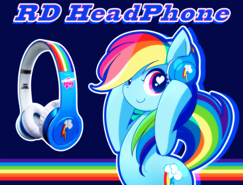 kawaii-rainbow-pony:  RD HeadPhone by ちんぷい  Following this blog was a bad idea…