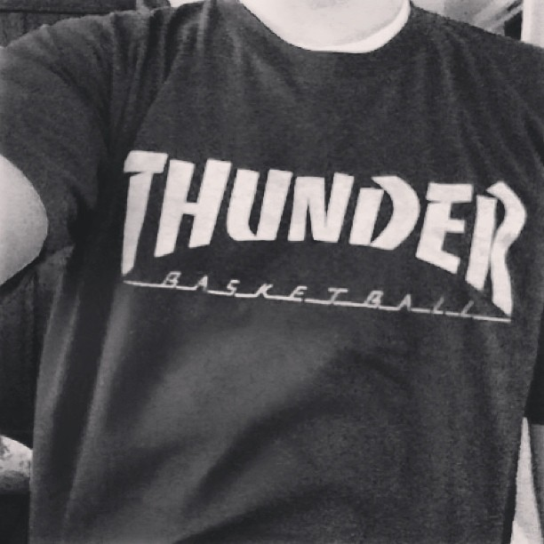 #thunder #thrasher #baskateball