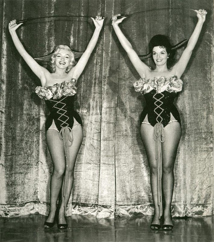 "Marilyn and Jane Russell in ""Gentlemen Prefer Blondes"", 1953"